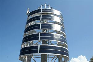 La primera antena de telefonía móvil solar