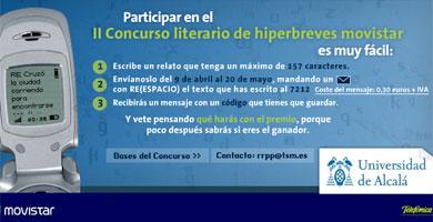 Movistar y la Universidad de Alcalá convocan un concurso de relatos por SMS