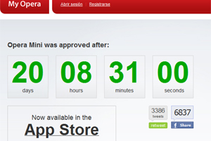 Opera Mini, por fin para iPhone, tras 3 semanas de espera