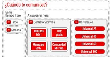 Vodafone mantendrá sus tarifas tras las modificaciones de movistar