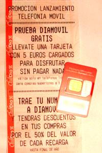 Diamovil regala tarjetas con 5 euros de saldo