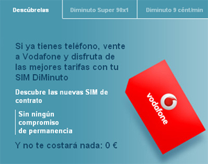 DiMinuto, la nueva tarifa de Vodafone