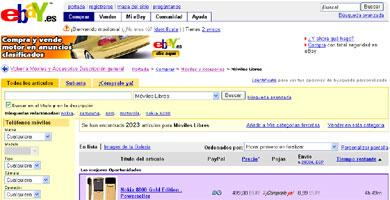 Movistar emoción incorpora las subastas de eBay