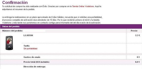 Vodafone cancela cientos de pedidos de forma unilateral