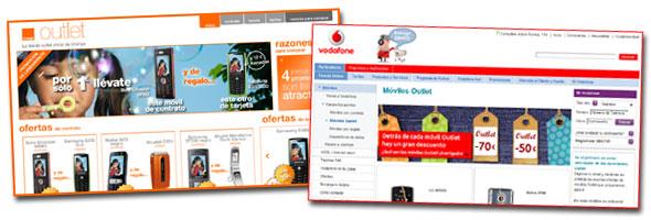 Vodafone y Orange abren tiendas outlet de móviles