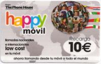 Happy móvil regala la mitad del saldo recargado hasta 2010
