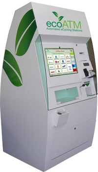 Una máquina para reciclar teléfonos móviles