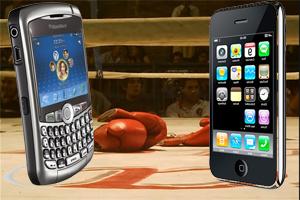 La BlackBerry Curve gana la pelea de ventas al iPhone