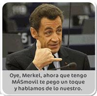 MÁSmovil utiliza la imagen de Sarkozy en un anuncio