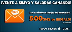 Simyo regala hasta 500 SMS a las portabilidades