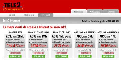 Vodafone quiere ofrecer ADSL a través de Tele2