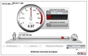 Test de velocidad móvil mide la rapidez y estabilidad de los datos 3G