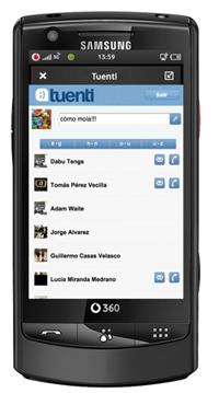 Movistar sólo quiere enviar SMS a los usuarios de Tuenti