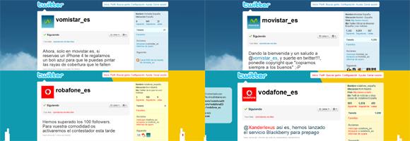 Vomistar, Robafone, Oranjas... las otras operadoras en Twitter