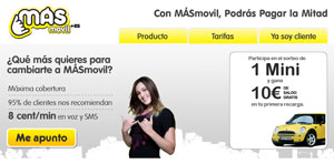 MÁSmovil competirá en el acceso a Internet desde el móvil