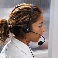Operadora de un call center