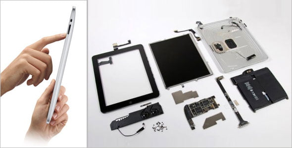 Componentes del Apple iPad 2