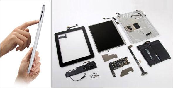 Componentes del Apple iPad 2