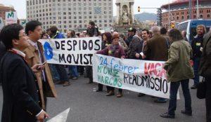 Manifestación de trabajadores de movistar