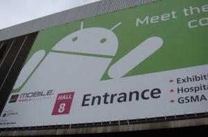 Entrada al pabellón de Android