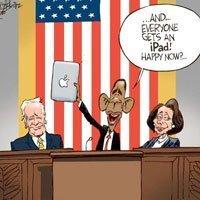 Obama con el iPad