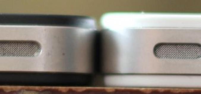 El iPhone 4 blanco es más grueso que el negro