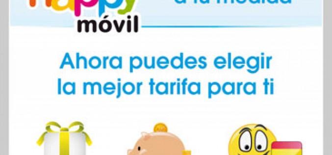 Happy móvil reestructura y amplía sus tarifas