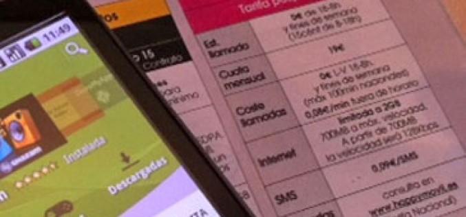 Happy móvil lanza su primera tarifa de contrato
