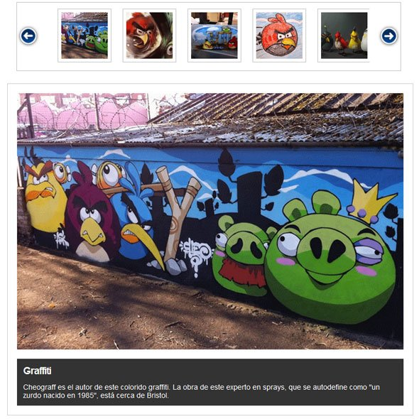 Galería de Angry Birds Art