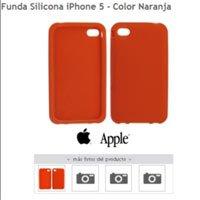 Funda de silicona para iPhone 5