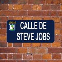Calle de Steve Jobs en Madrid