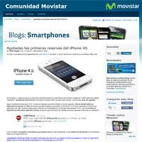 El iPhone 4S en movistar