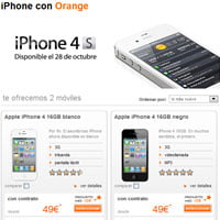 iPhone 4S en Orange