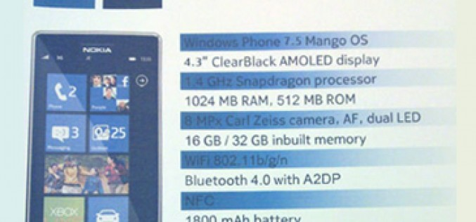 Se filtran las prestaciones del Nokia 900