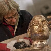 Estatua de bronce de Steve Jobs