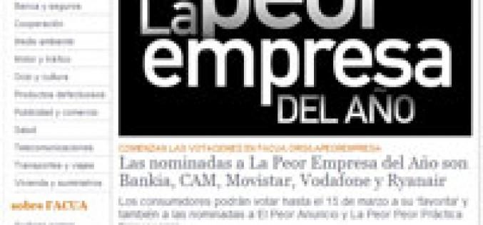 Facua nomina a movistar y Vodafone como 'peores empresas del año'