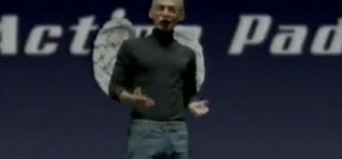 Steve Jobs, parodiado en un anuncio de un tablet con Android