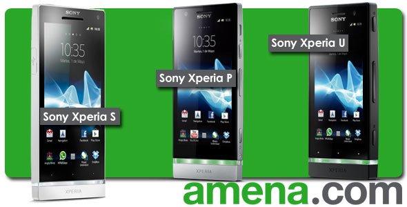 Sony Xperia S, Sony Xperia P y Sony Xperia U
