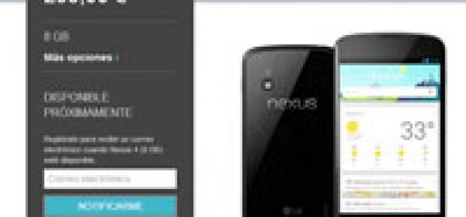Phone House cancela el lanzamiento del Nexus 4