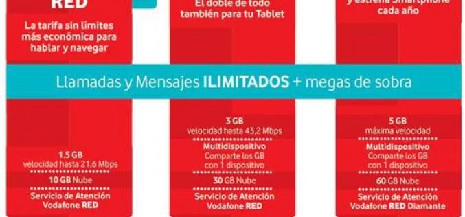 Vodafone sustituye sus tarifas por tallas con Red y Base