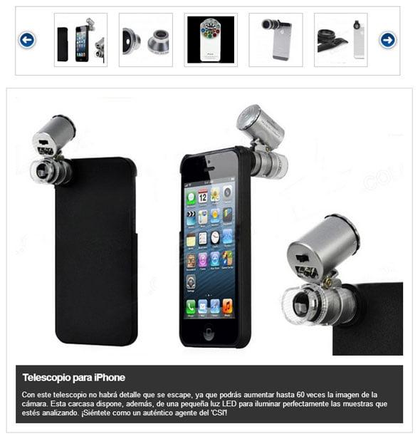 accesorios para la cámara del iPhone 5
