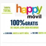tarifa total de Happy Móvil