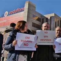 En las últimas semanas algunos trabajadores de Vodafone se han manifestado en sus centros de trabajo.