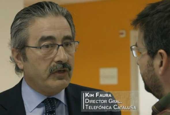 Kim Faura, director de Telefónica en Cataluña