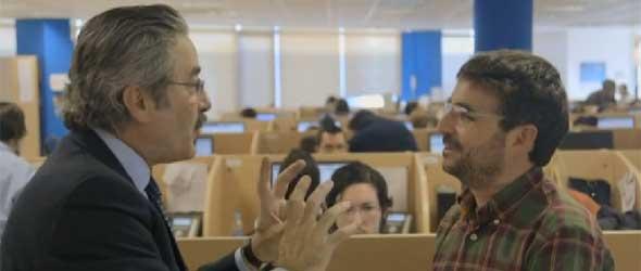 Kim Faura y Jordi Évole hablaron con algunos teleoperadores de Movistar.