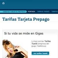Tuenti Móvil en la web de Movistar