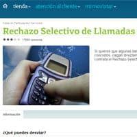 Rechazo selectivo de llamadas, de Movistar