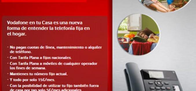 Vodafone promociona en julio su fijo-móvil