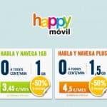Promoción 50% de Happy Móvil