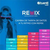 Tarifas Remix de Tuenti Móvil